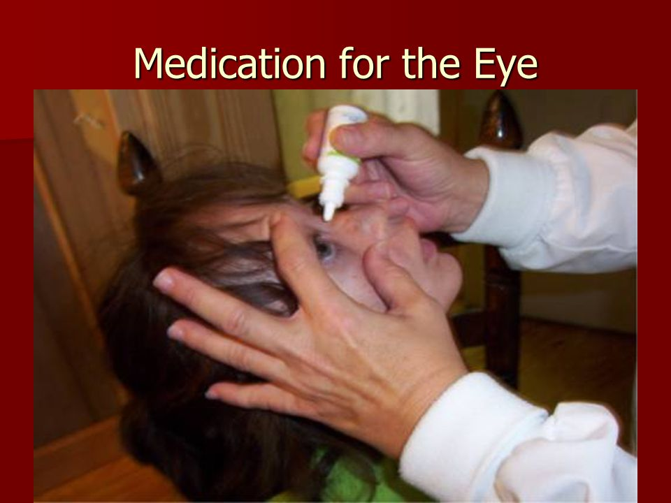 Medication for the Eye
