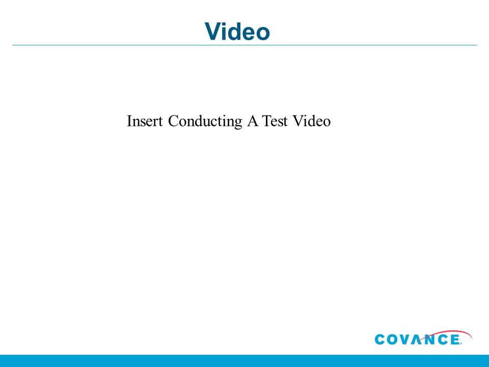 Video Insert Conducting A Test Video