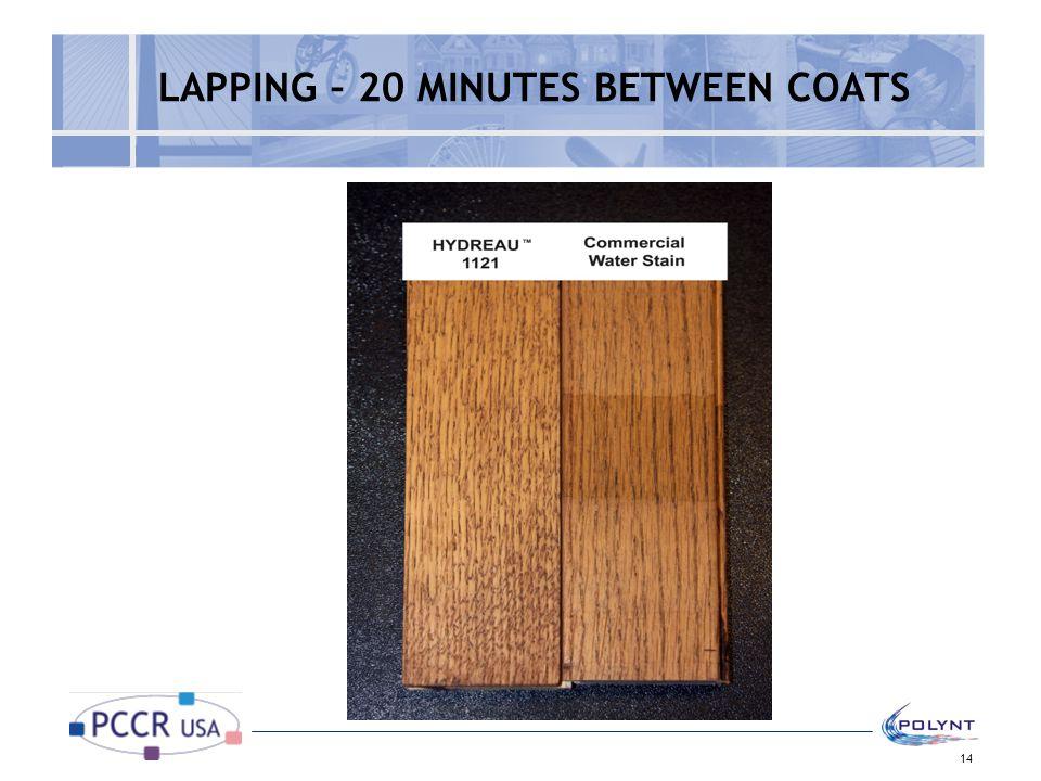 LAPPING – 20 MINUTES BETWEEN COATS 14