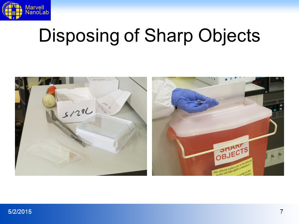 5/2/20157 Disposing of Sharp Objects