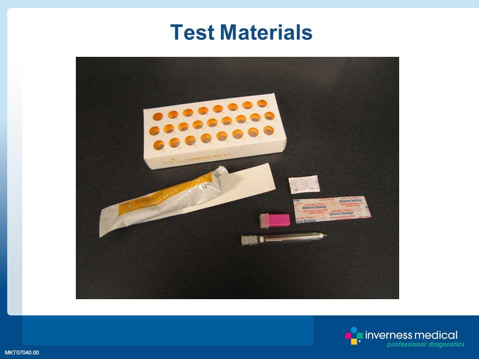 MKT07040.00 Test Materials