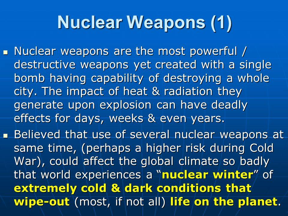 WMD PROLIFERATION (1) Proliferation means something spreading / multiplying.