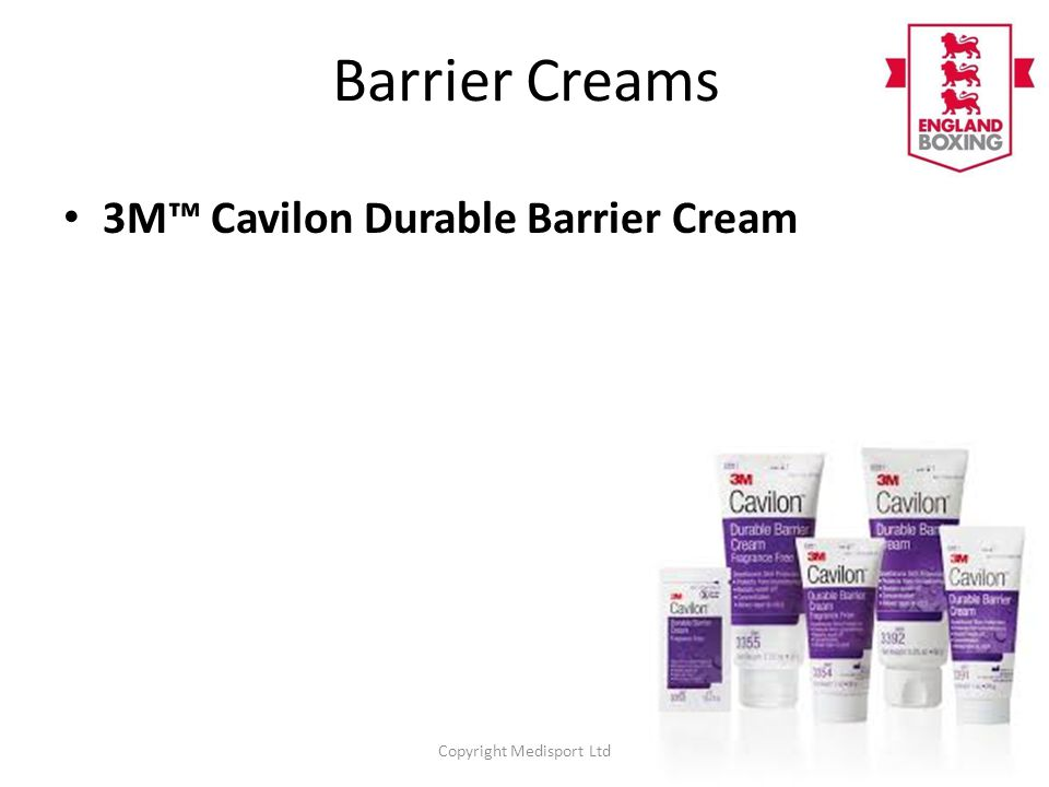 Barrier Creams 3M™ Cavilon Durable Barrier Cream Copyright Medisport Ltd