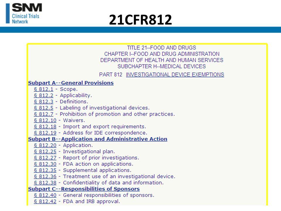 21CFR812
