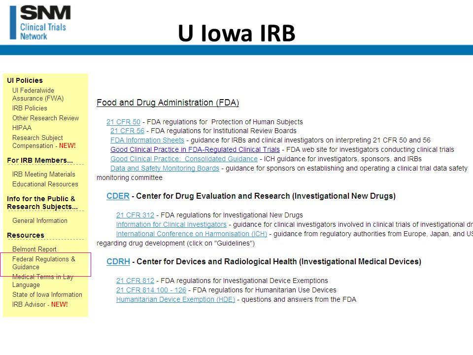 U Iowa IRB