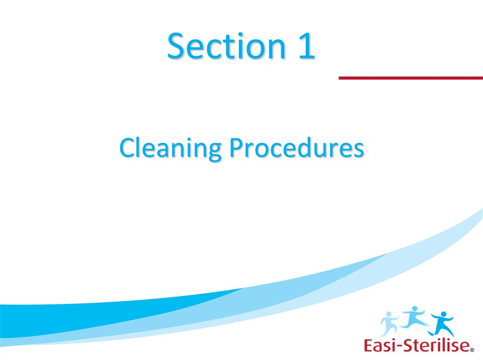 Section 1 Cleaning Procedures
