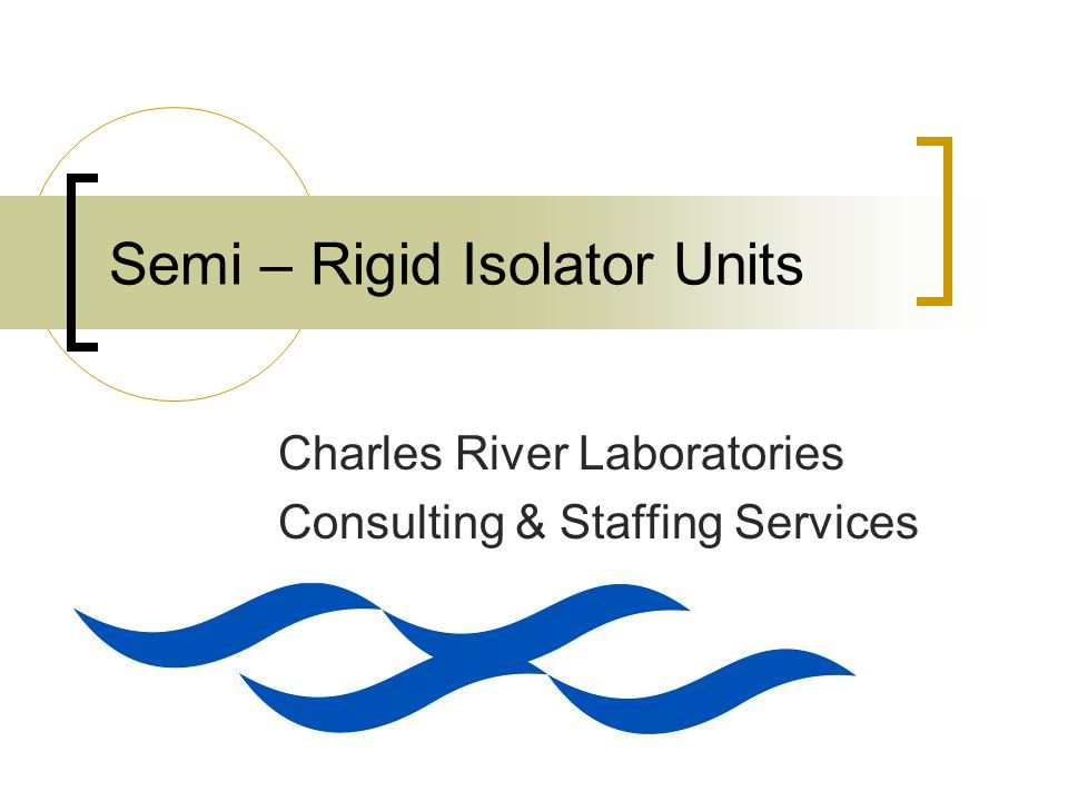 Semi – Rigid Isolator Units Charles River Laboratories Consulting & Staffing Services