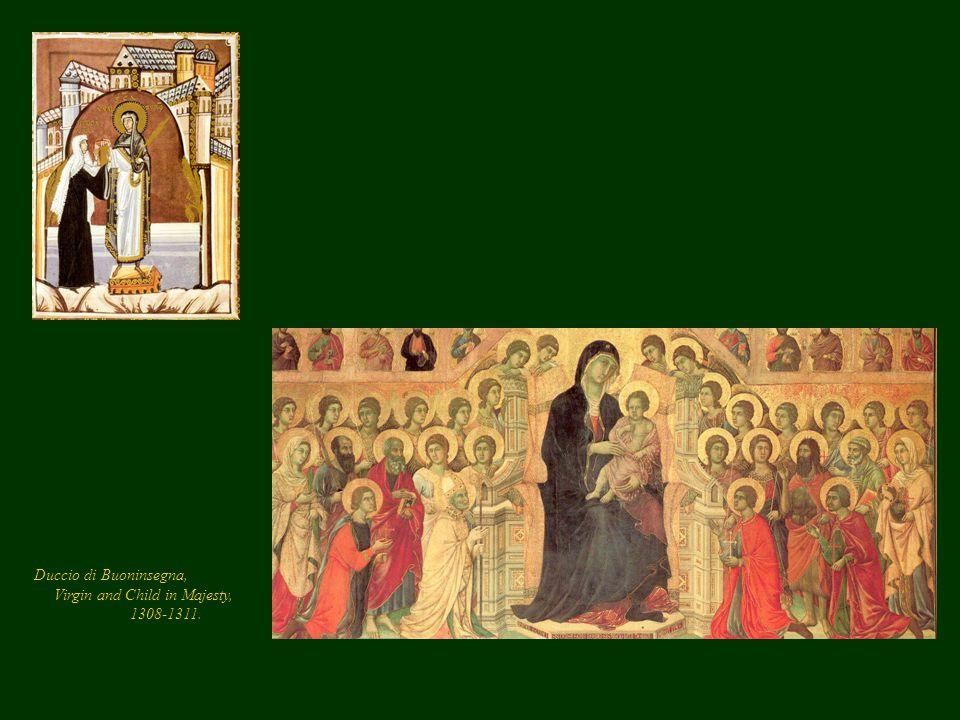 Duccio di Buoninsegna, Virgin and Child in Majesty, 1308-1311.