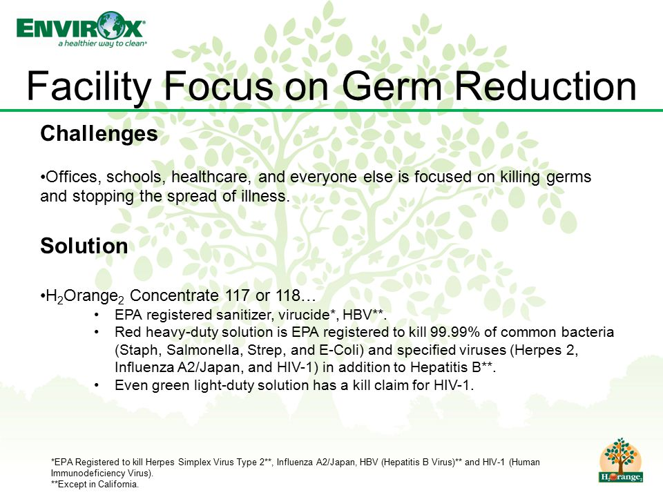 Facility Focus on Germ Reduction Challenges Offices, schools, healthcare, and everyone else is focused on killing germs and stopping the spread of illness.