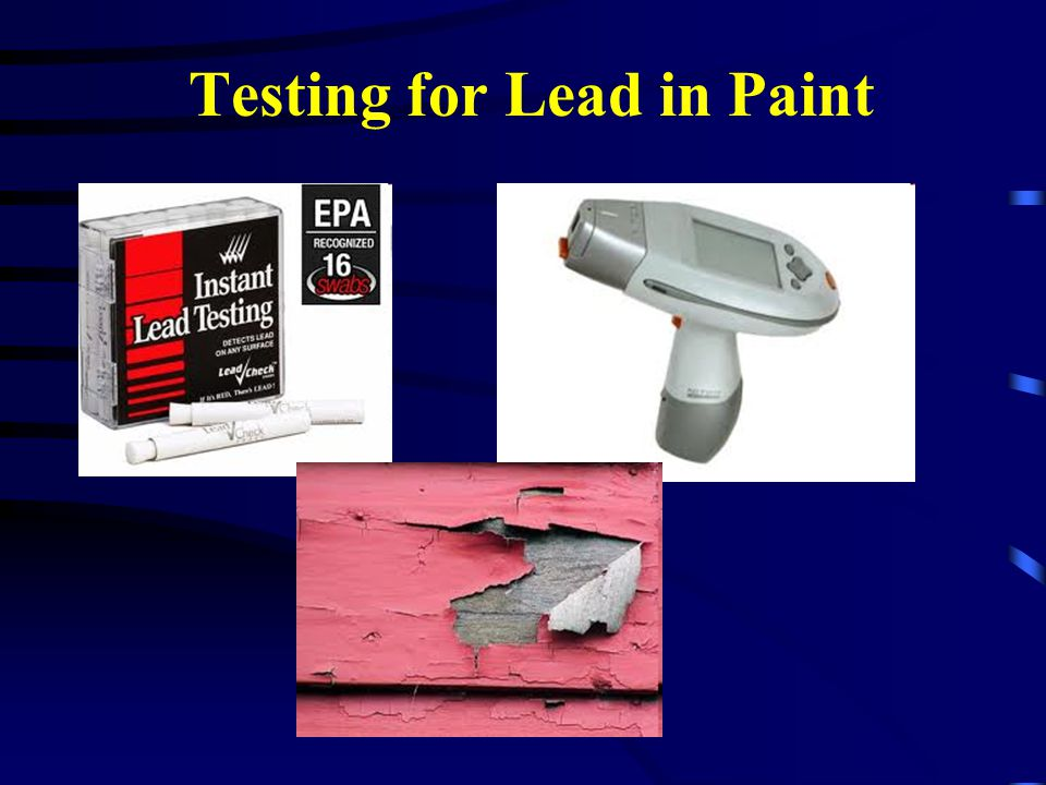 Testing for Lead in Paint