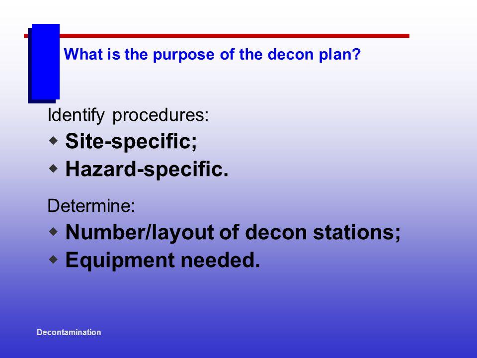 Decontamination Heavy Equipment Decontamination Procedures: EXAMPLES Document