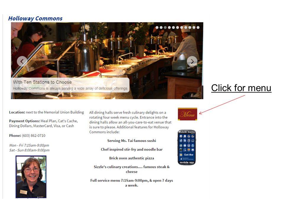 Click for menu