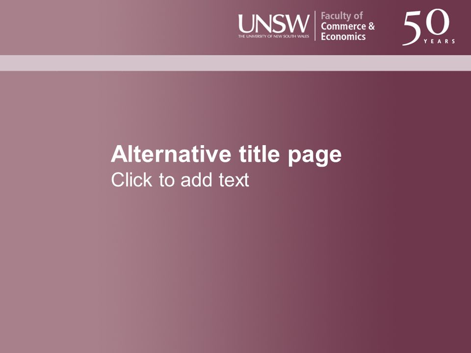Alternative title page Click to add text