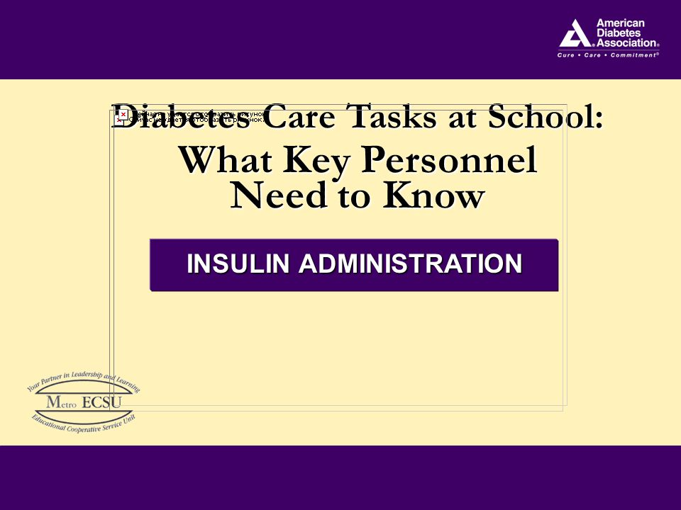 12 Insulin Bolus Dosage Amount to cover food eaten - Usually calculated as 1 unit per x number gms of carbohydrate - For example: 6 units needed to cover 60 gms CHO if using 1 unit per 10 gms CHO (60/10 = 6) Amount to lower blood sugar to target range - Usually calculated according to sliding scale or correction factor - Sliding scale: give units of insulin for each range of BG indicated on DMMP - Correction factor: Blood glucose level – target blood glucose/correction factor = units insulin to be given - Ex: BG=150 (actual) minus Target BG (100) = 50 divided by Correction factor (50) = 1 unit insulin needed Add together to get Insulin Bolus Dosage
