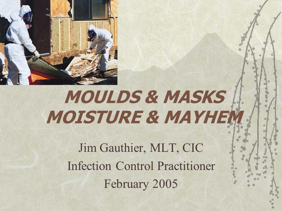 MOULDS & MASKS MOISTURE & MAYHEM Jim Gauthier, MLT, CIC Infection Control Practitioner February 2005