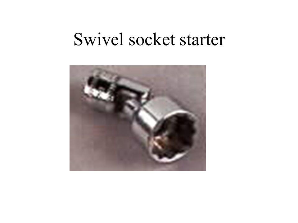 Swivel socket starter