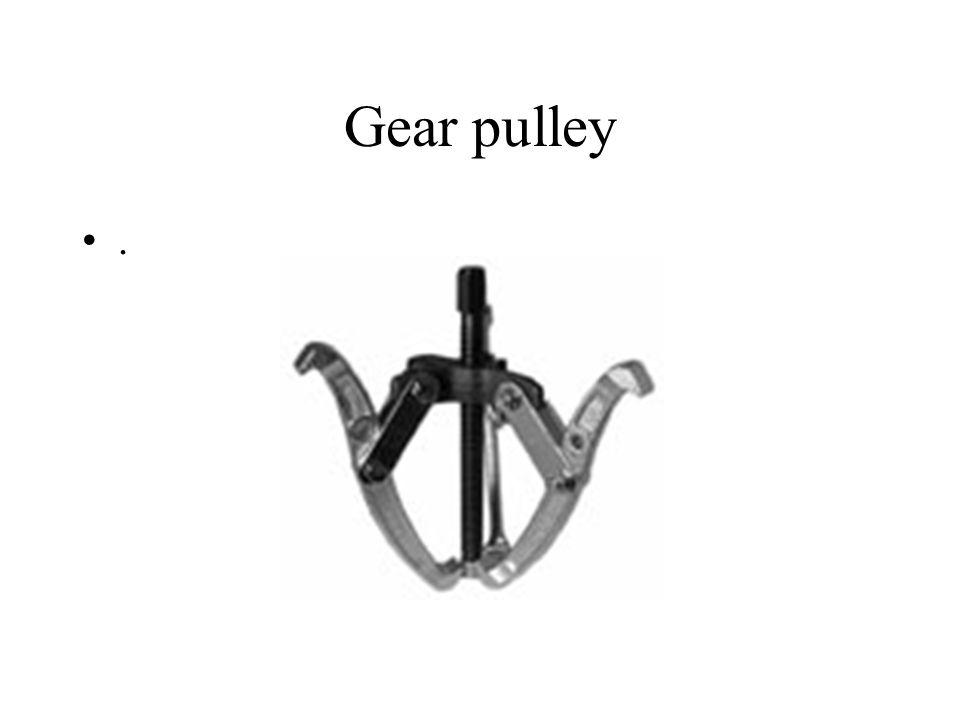 Gear pulley.