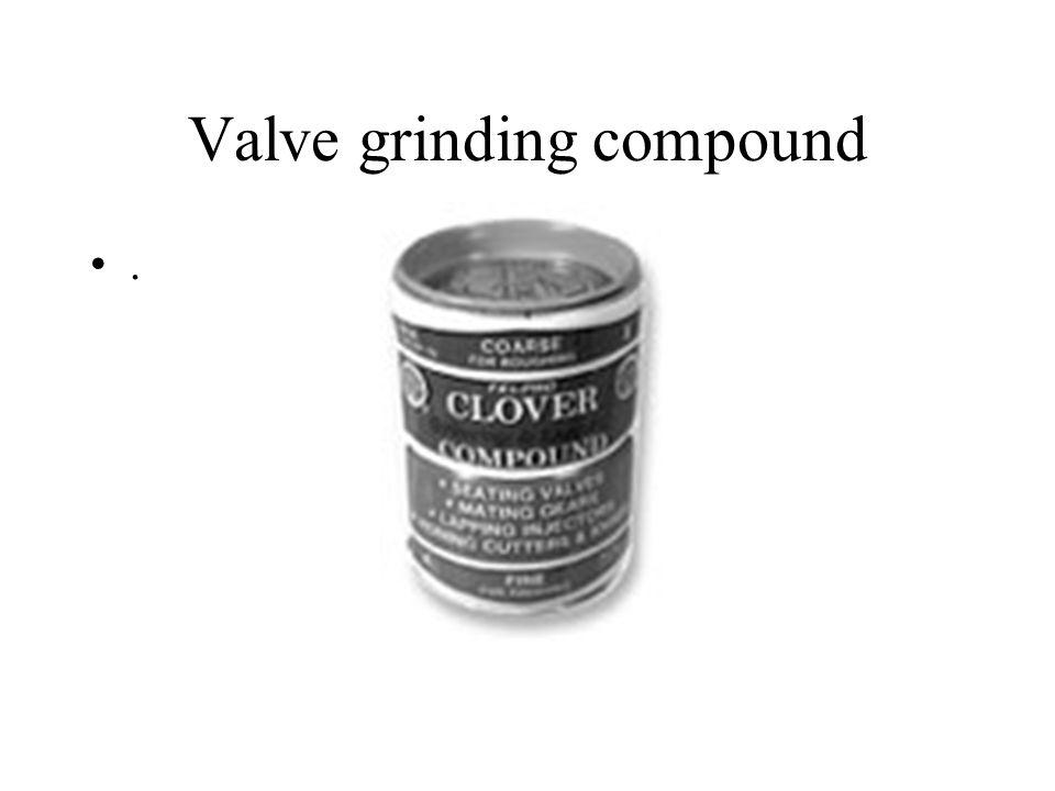 Valve grinding compound.