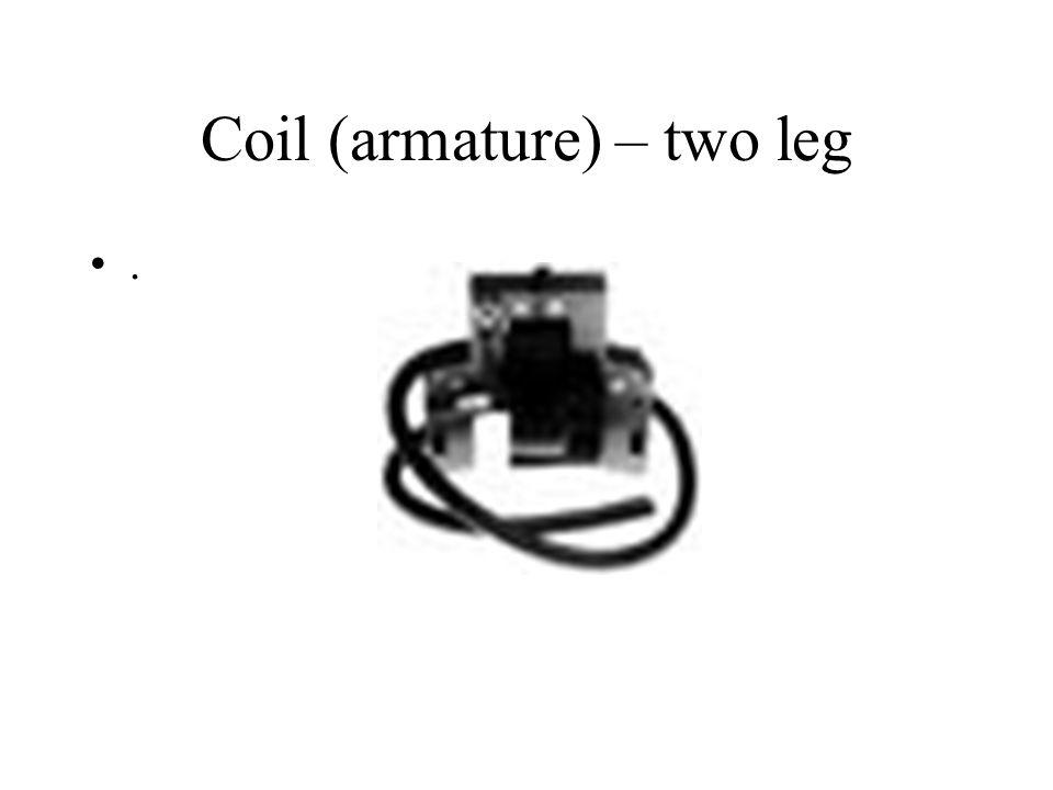 Coil (armature) – two leg.