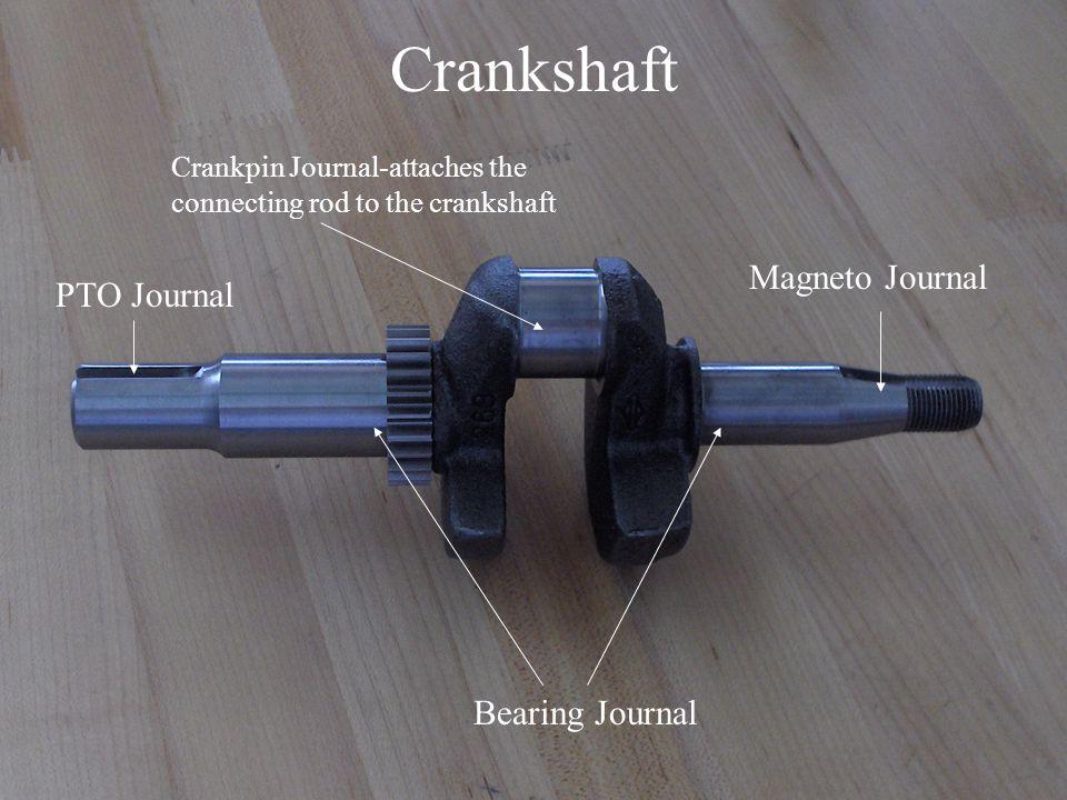 Crankshaft Magneto Journal PTO Journal Bearing Journal Crankpin Journal-attaches the connecting rod to the crankshaft