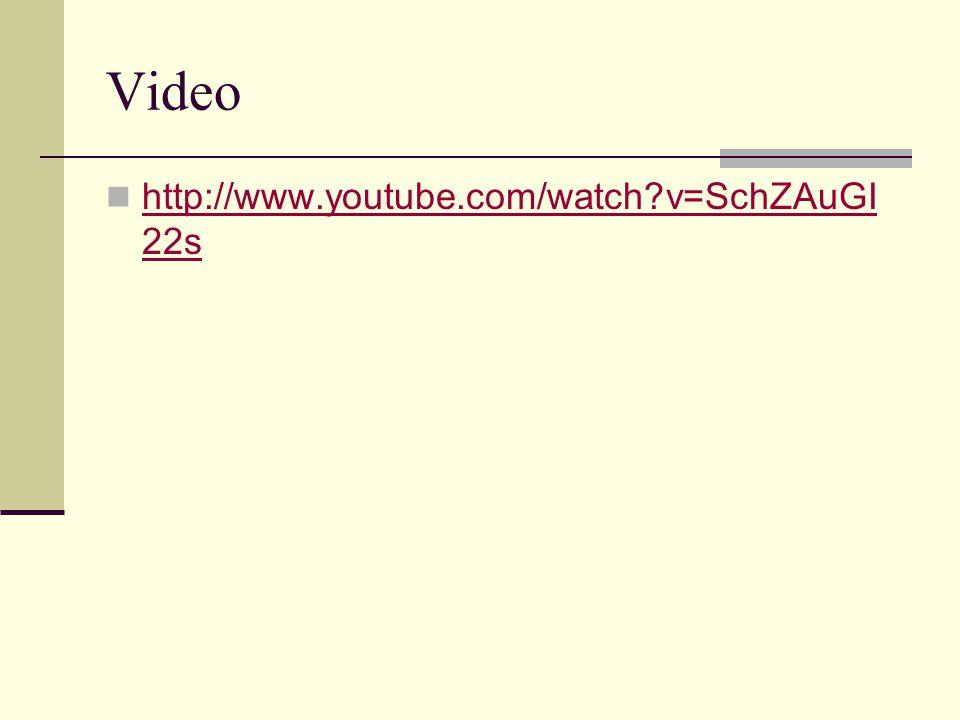 Video http://www.youtube.com/watch?v=SchZAuGI 22s http://www.youtube.com/watch?v=SchZAuGI 22s