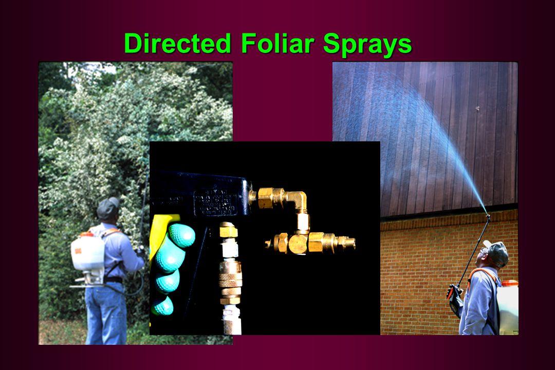 Directed Foliar Sprays