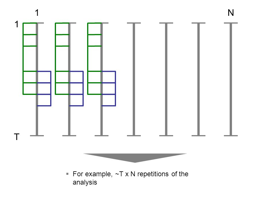 1 T 1N  For example, ~T x N repetitions of the analysis