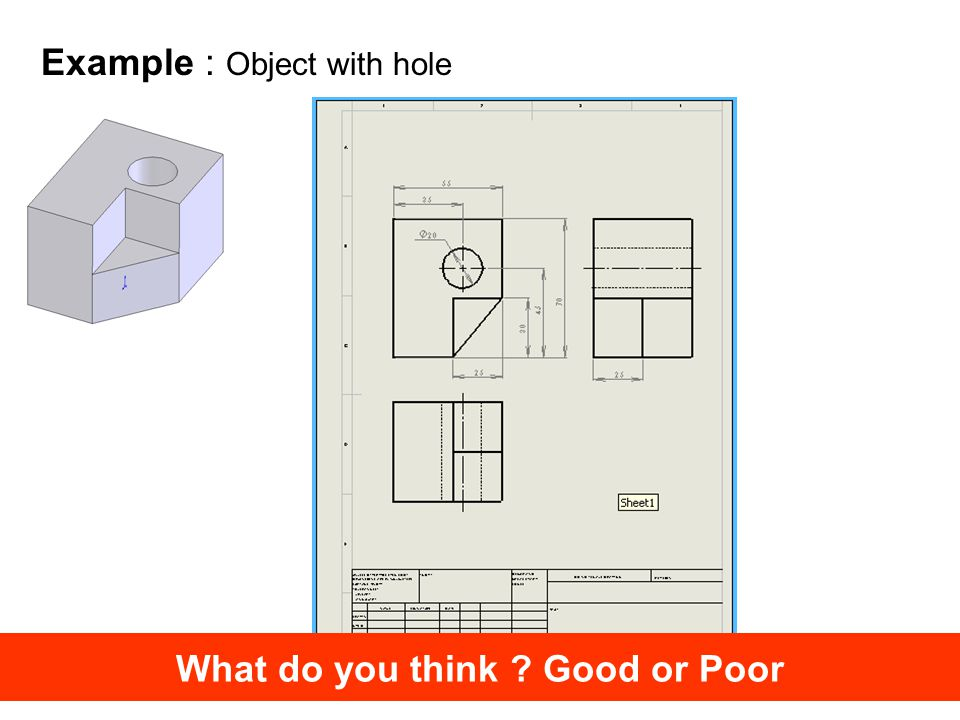 Example : Object with hole What do you think Good or Poor