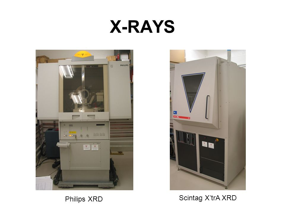 X-RAYS Philips XRD Scintag X'trA XRD