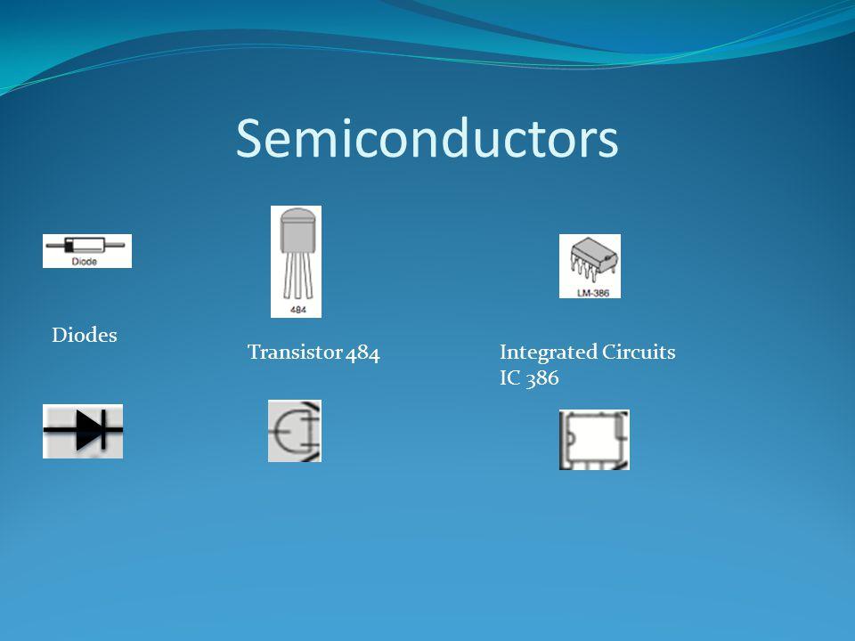 Semiconductors Diodes Integrated Circuits IC 386 Transistor 484