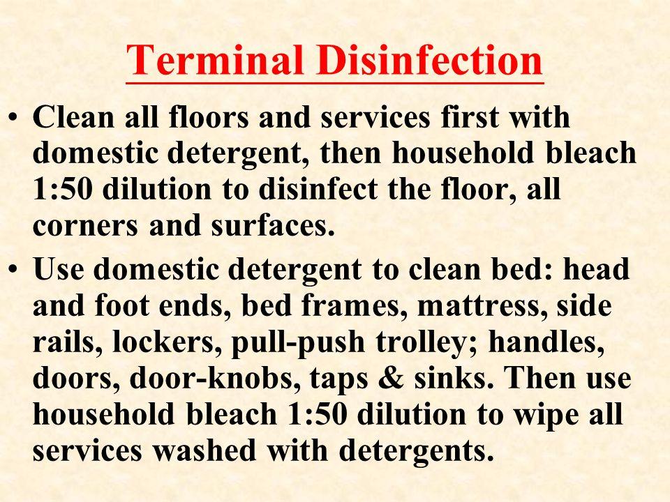 Clean up of Spilt body fluids: phlegm, vomitus or others 溢濺物的處理