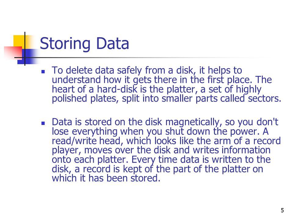 6 Storing Data