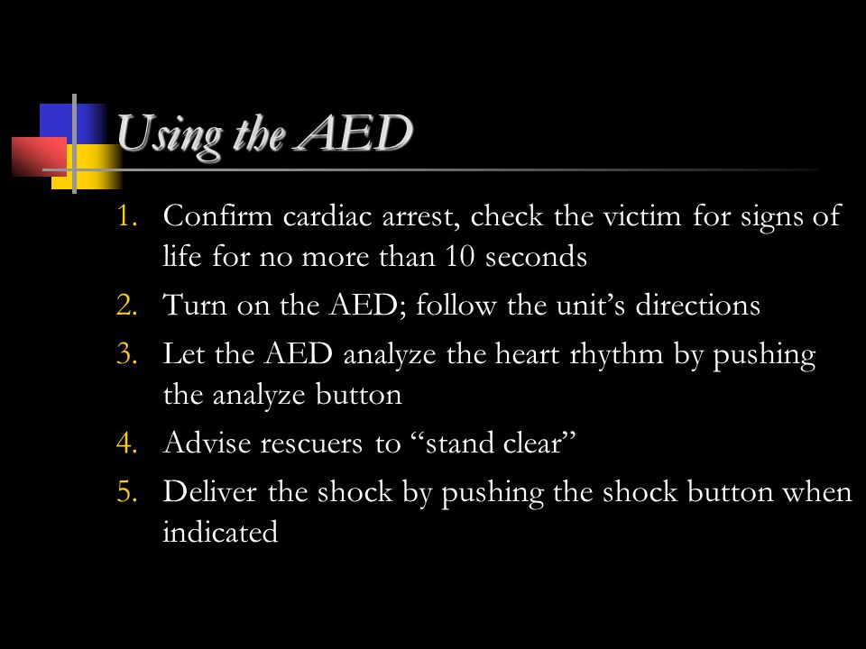 Using the AED 1.