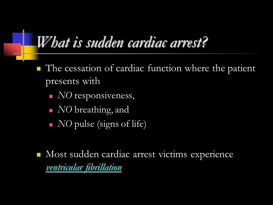 What is sudden cardiac arrest.
