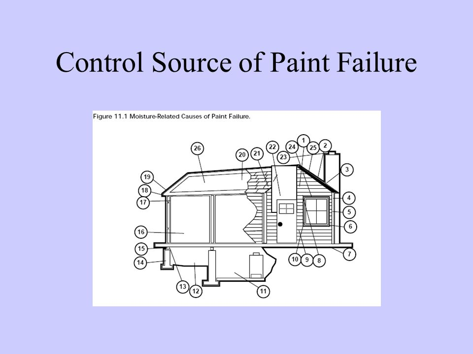 Control Source of Paint Failure