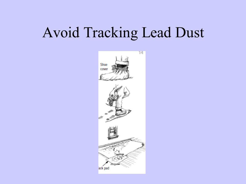 Avoid Tracking Lead Dust