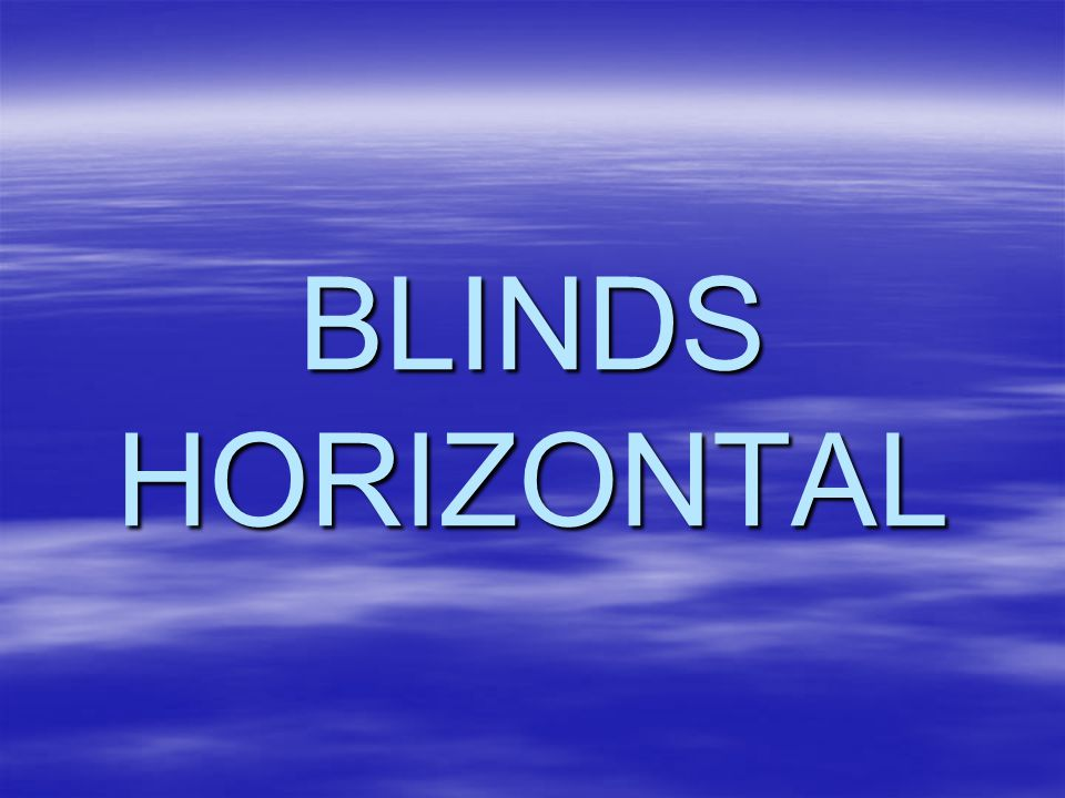 BLINDS HORIZONTAL