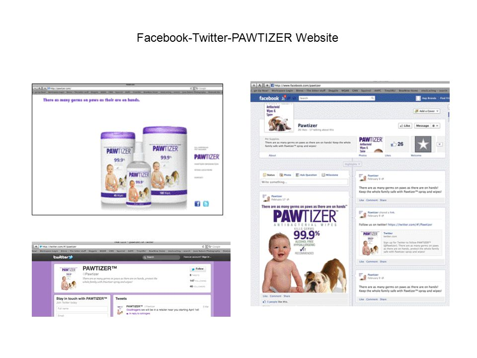 Facebook-Twitter-PAWTIZER Website