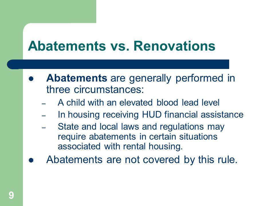 10 Abatements vs.