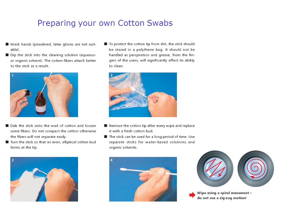 Preparing your own Cotton Swabs