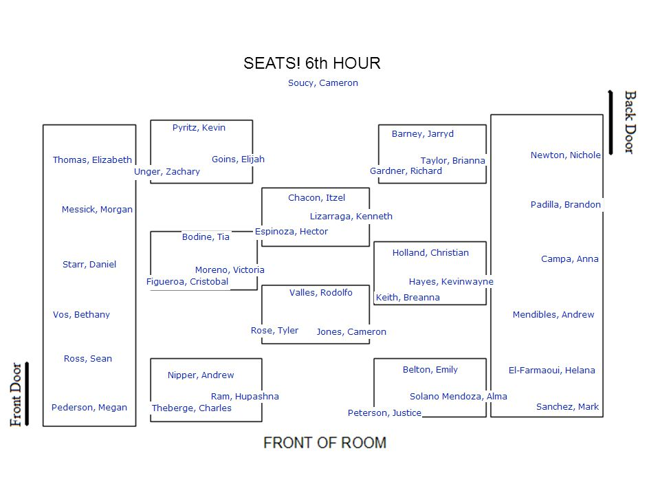 SEATS! 7th HOUR