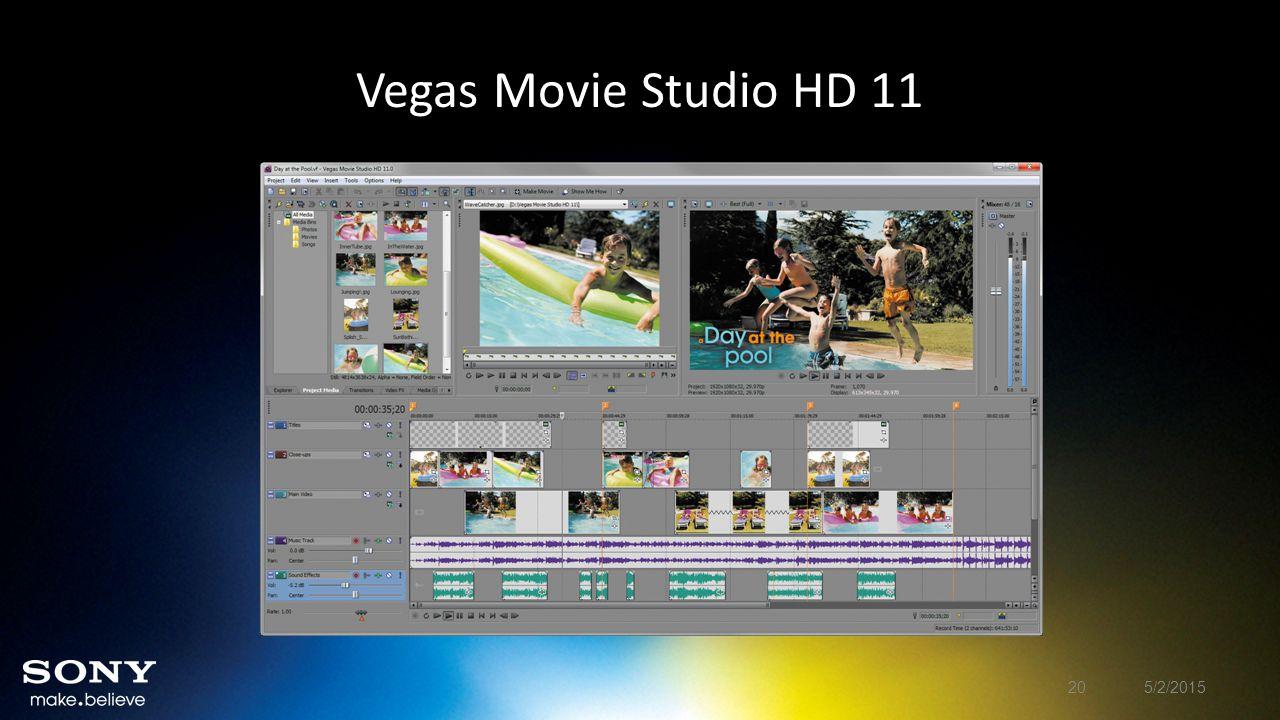 Vegas Movie Studio HD 11 5/2/201520