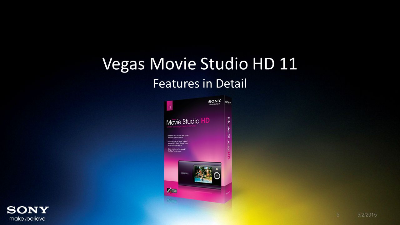 Vegas Movie Studio HD 11 New Features In Detail New Project Dialog Feature New and improved New Project dialog box.