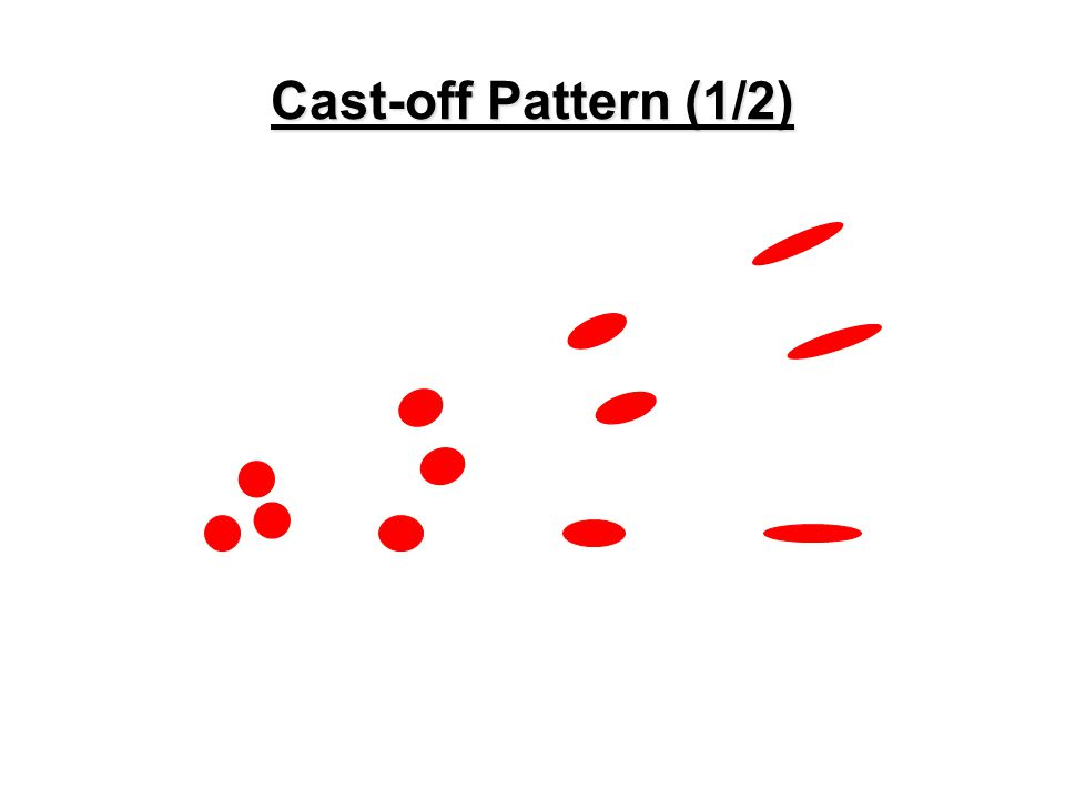 POINT OF CONVERGENCE AND ORIGIN DETERMINATION Projected Bloodstain Patterns