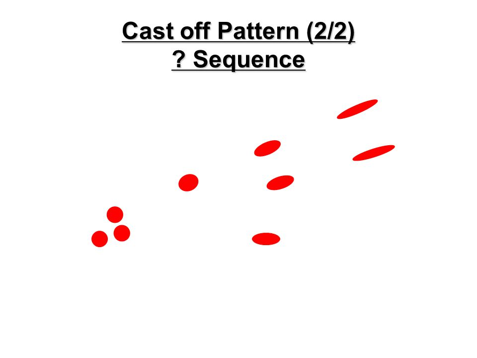 Cast-off Pattern (1/2)