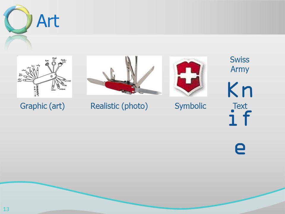 Art Swiss Army Kn if e Graphic (art)Realistic (photo) Symbolic Text 13