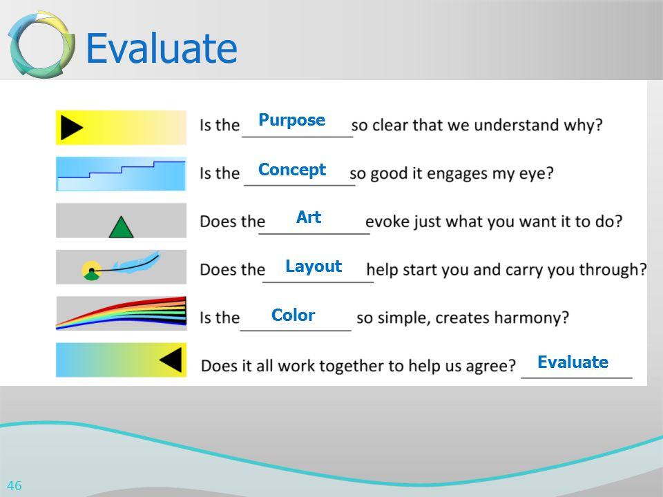 Evaluate Purpose Concept Art Layout Color Evaluate 46