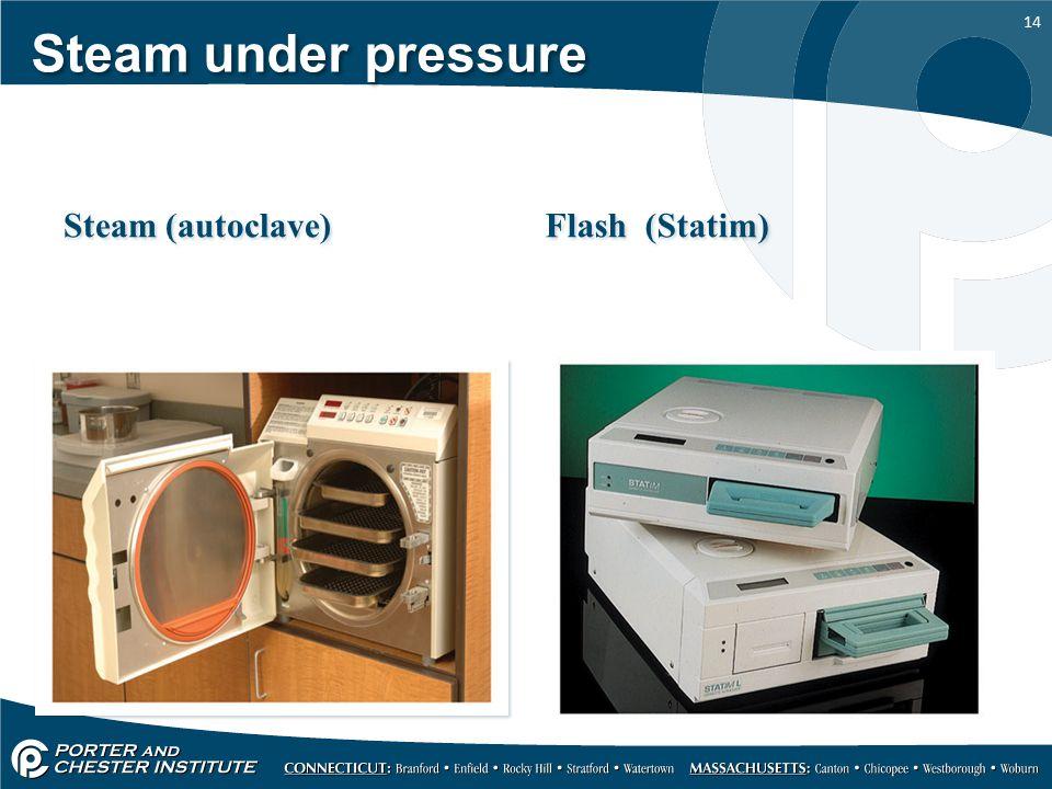 14 Steam under pressure Steam (autoclave) Flash (Statim)