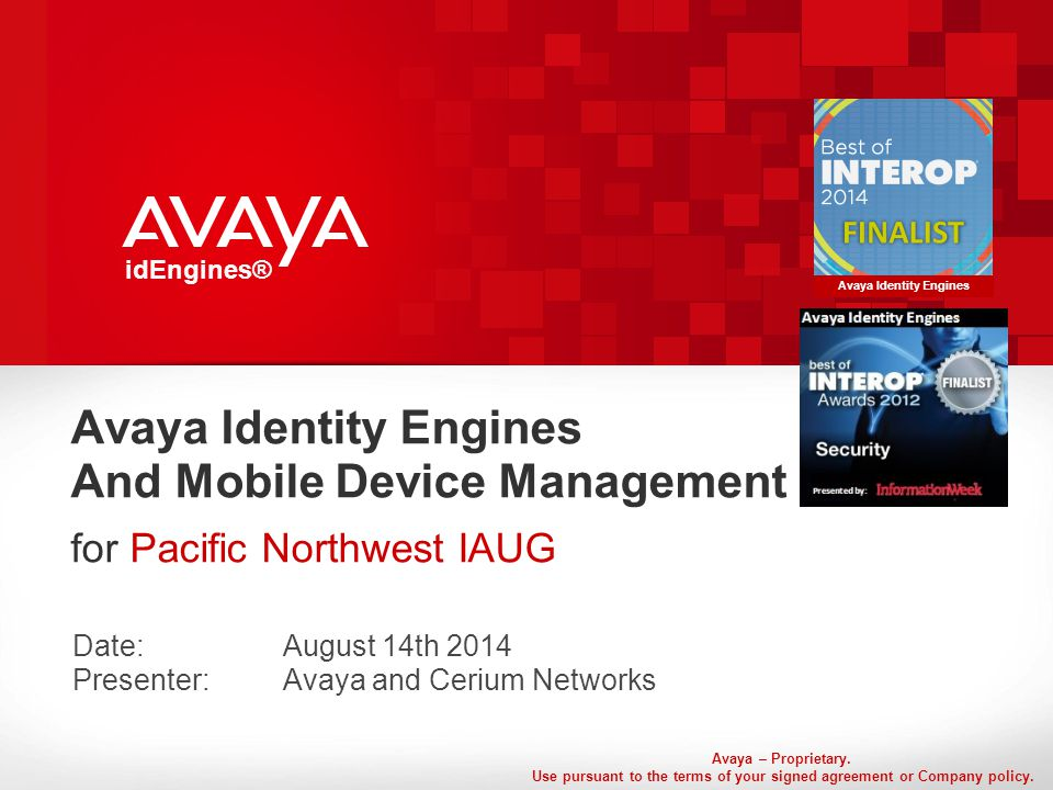 Avaya – Proprietary. Use pursuant to the terms of your signed agreement or Company policy.