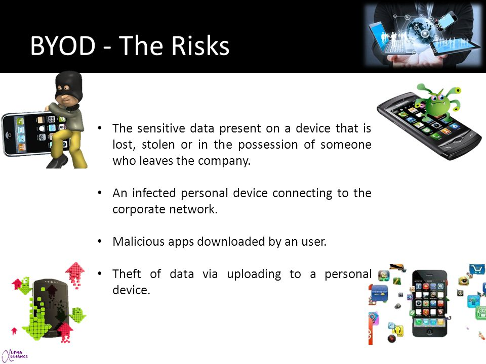 44 percent of firms had a Bring Your Own Device (BYOD) policy in place in early 2012.